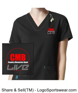 CMB Women's scrubs Design Zoom